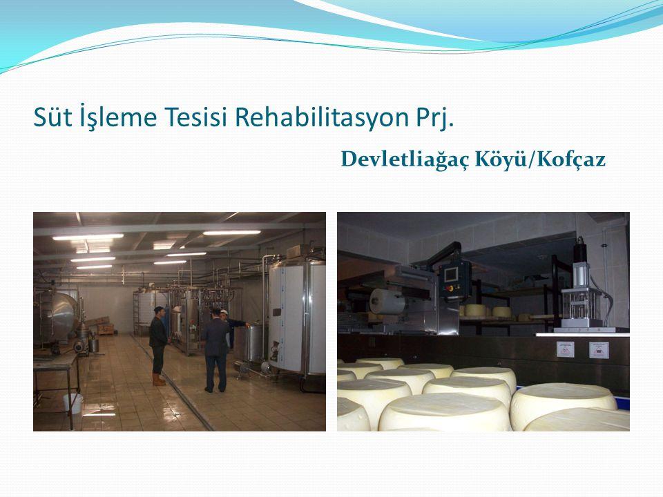 Süt İşleme Tesisi Rehabilitasyon Prj. Devletliağaç Köyü/Kofçaz