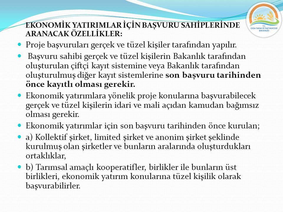 EKONOMİK YATIRIM KONULARINDA YATIRIM TUTARI VE DESTEKLEME ORANI : Ekonomik yatırımlar için proje başvurularında hibeye esas proje tutarı, gerçek kişi başvurularında KDV Hariç 300.000 Türk Lirasını, tüzel kişi başvuruları için ise 800.000 Türk Lirasını geçemez.