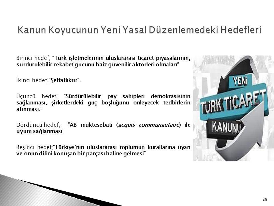 """Birinci hedef; """"Türk işletmelerinin uluslararası ticaret piyasalarının, sürdürülebilir rekabet gücünü haiz güvenilir aktörleri olmaları"""" İkinci hedef;"""