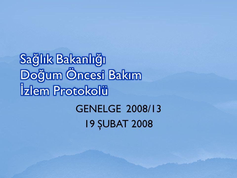GENELGE 2008/13 19 ŞUBAT 2008