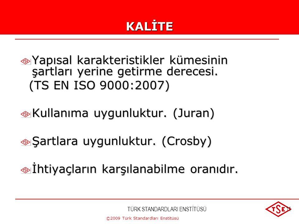©2009 Türk Standardları Enstitüsü EĞİTİM PROGRAMI 3.GÜN 09.30.-12.30.Kaynak Yönetimi, Kaynakların Sağlanması,İnsan Kaynakları, Altyapı, Çalışma Ortamı
