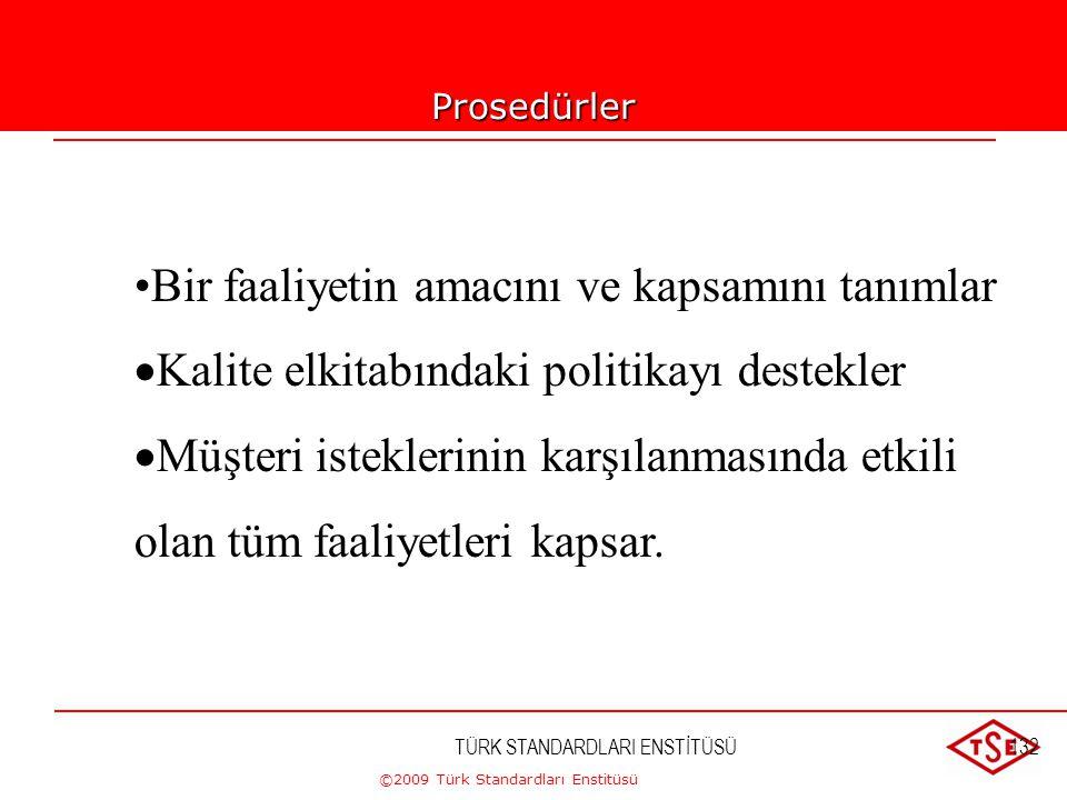 ©2009 Türk Standardları Enstitüsü TÜRK STANDARDLARI ENSTİTÜSÜ131 Dokümantasyon ortamları  Kağıt  Manyetik Ortam(disket, harddisk, kredi kartları) 