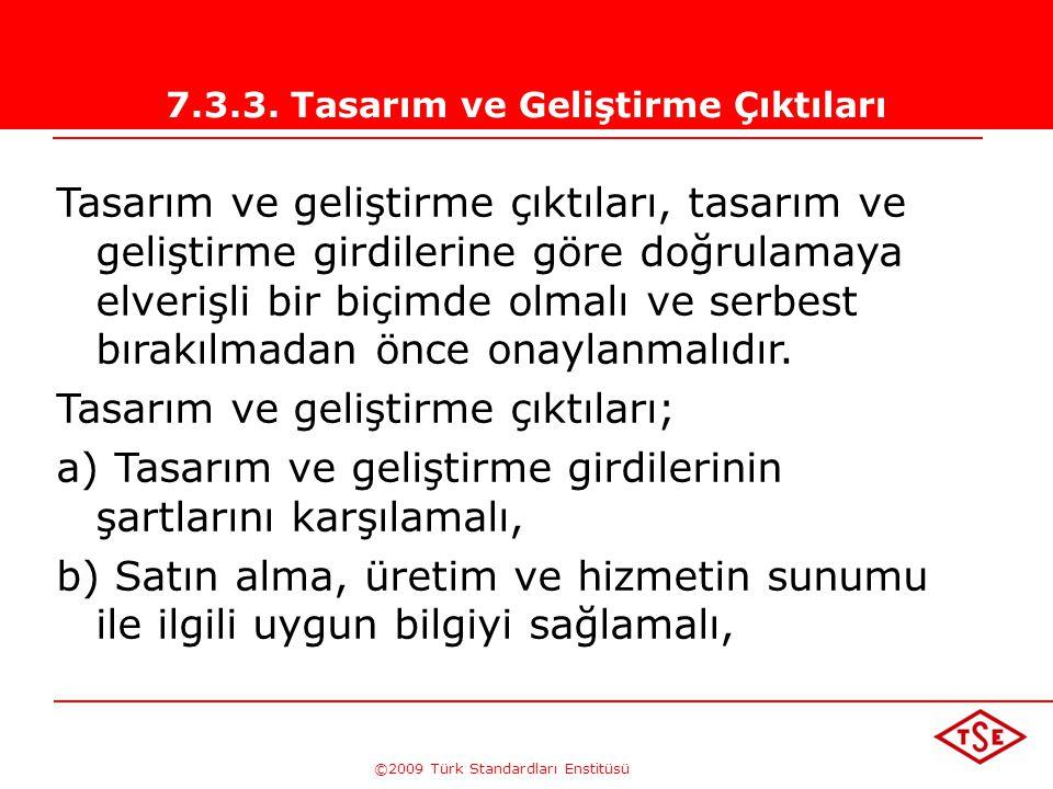 ©2009 Türk Standardları Enstitüsü TÜRK STANDARDLARI ENSTİTÜSÜ196 Tasarım Faaliyetinde; 1- tasarım - geliştirme faaliyetlerinde ürünlere ilişkin şartla