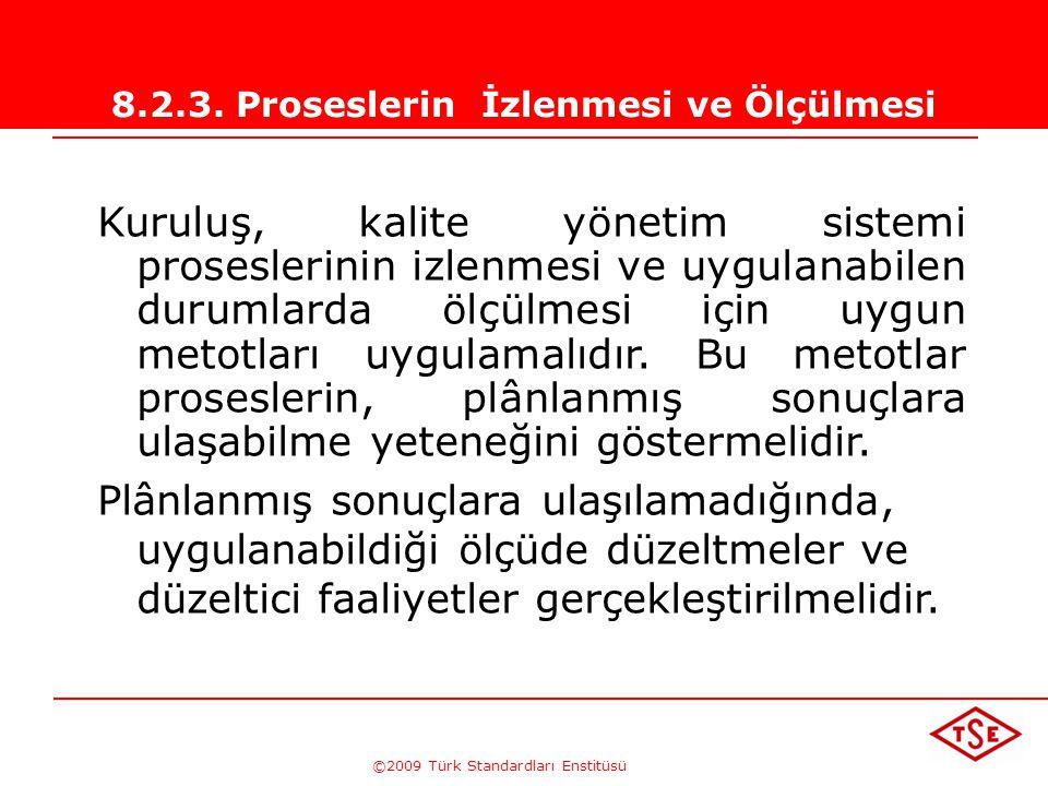 ©2009 Türk Standardları Enstitüsü TÜRK STANDARDLARI ENSTİTÜSÜ250Tetkikler  Planlanmış ve dokümante edilmiş olmalı  Tetkik prosesi bağımsız ve objekt
