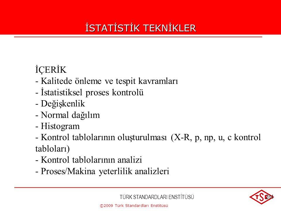 ©2009 Türk Standardları Enstitüsü TÜRK STANDARDLARI ENSTİTÜSÜ283 İSTATİSTİK TEKNİKLER HATA TÜRLERİ ETKİ ANALİZİ(FMEA) Hata Türleri ve Etkileri Analizi