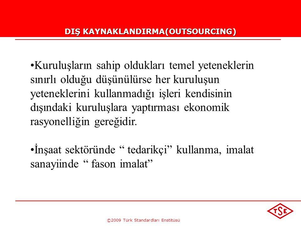 ©2009 Türk Standardları Enstitüsü PROSES YENİLEME (PROSES TASARIMI VEYA DEĞİŞİM MÜHENDİSLİĞİ) Bir iş veya faaliyetin daha kısa sürede bitirilmesi ve h