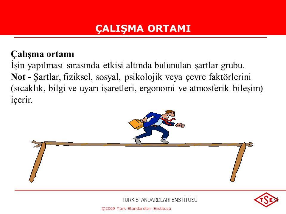 ©2009 Türk Standardları Enstitüsü TÜRK STANDARDLARI ENSTİTÜSÜ30 İLGİLİ TARAF İlgili taraf Bir kuruluşun performansından veya başarısından bir fayda sa
