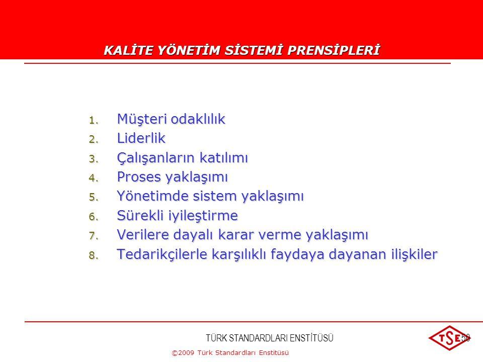 ©2009 Türk Standardları Enstitüsü TÜRK STANDARDLARI ENSTİTÜSÜ49 KURULUŞ :KAYNAK İSRAFI HURDA VE ISKARTA KISMEN YENİDEN İŞLEME TAMİRAT DEĞİŞTİRME ÜRETİ