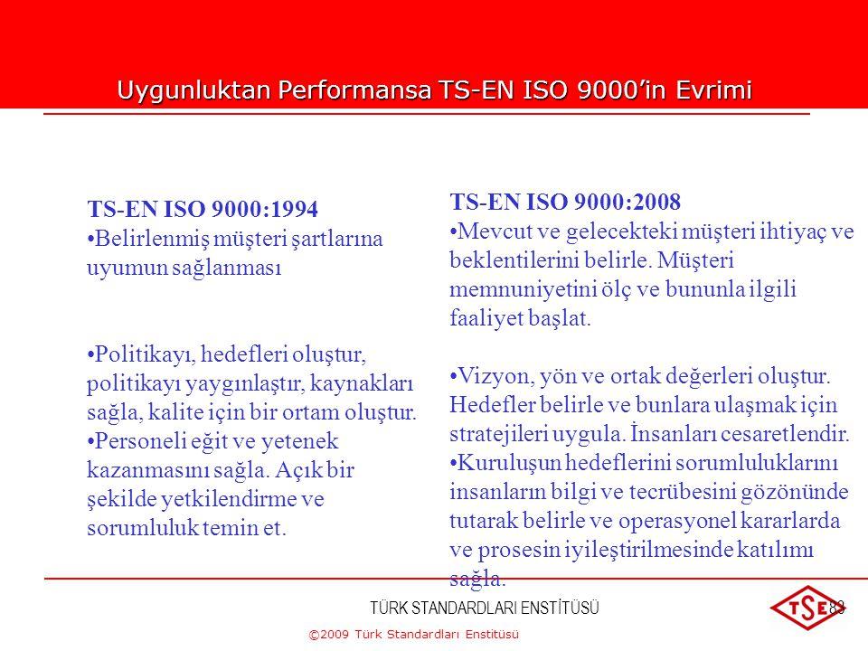 ©2009 Türk Standardları Enstitüsü TÜRK STANDARDLARI ENSTİTÜSÜ82DOKÜMANTASYON TS-EN ISO 9001:2008'de dokümante edilmiş prosedür şartlarının sayısı azal