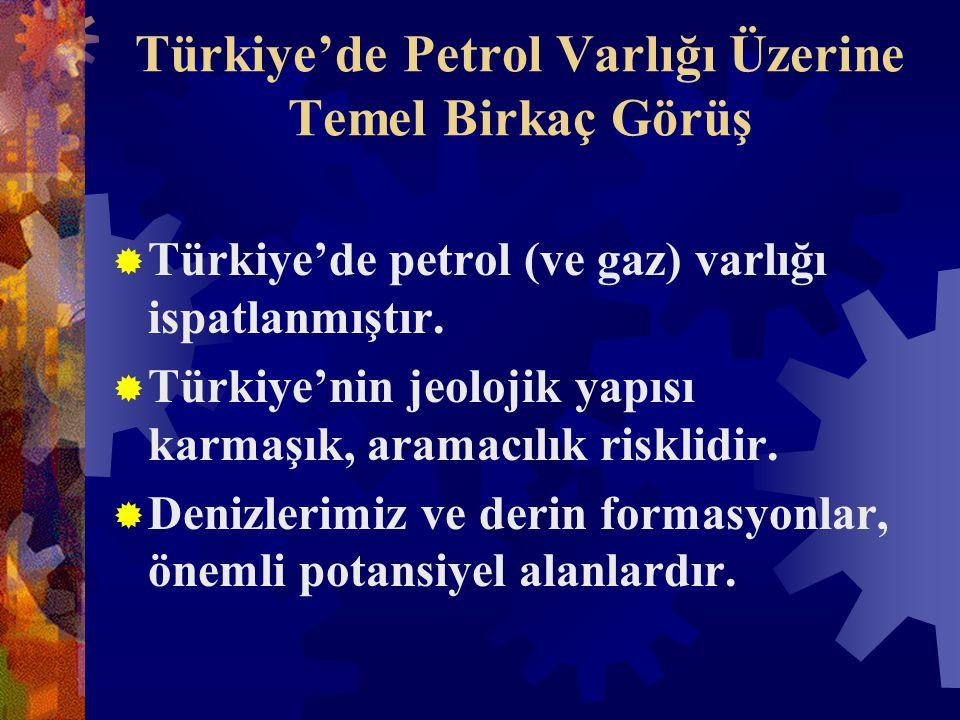Türkiye'de Petrol Varlığı Üzerine Temel Birkaç Görüş  Türkiye'de petrol (ve gaz) varlığı ispatlanmıştır.