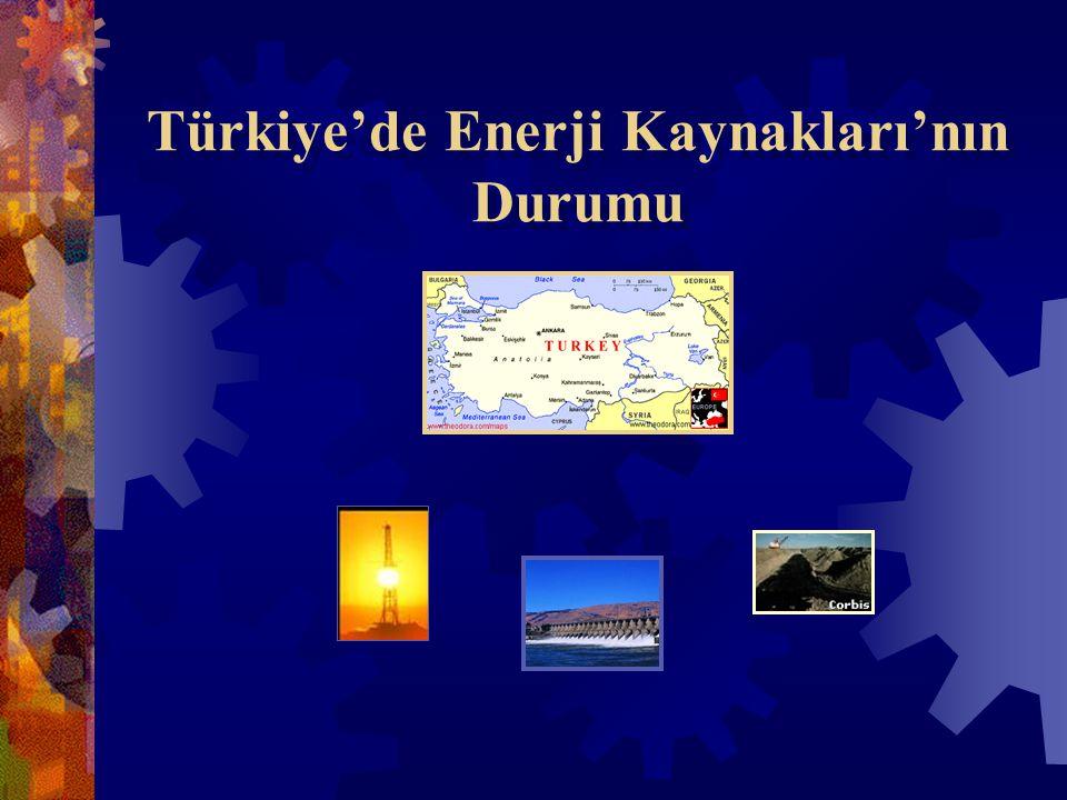 Türkiye'de Enerji Kaynakları'nın Durumu