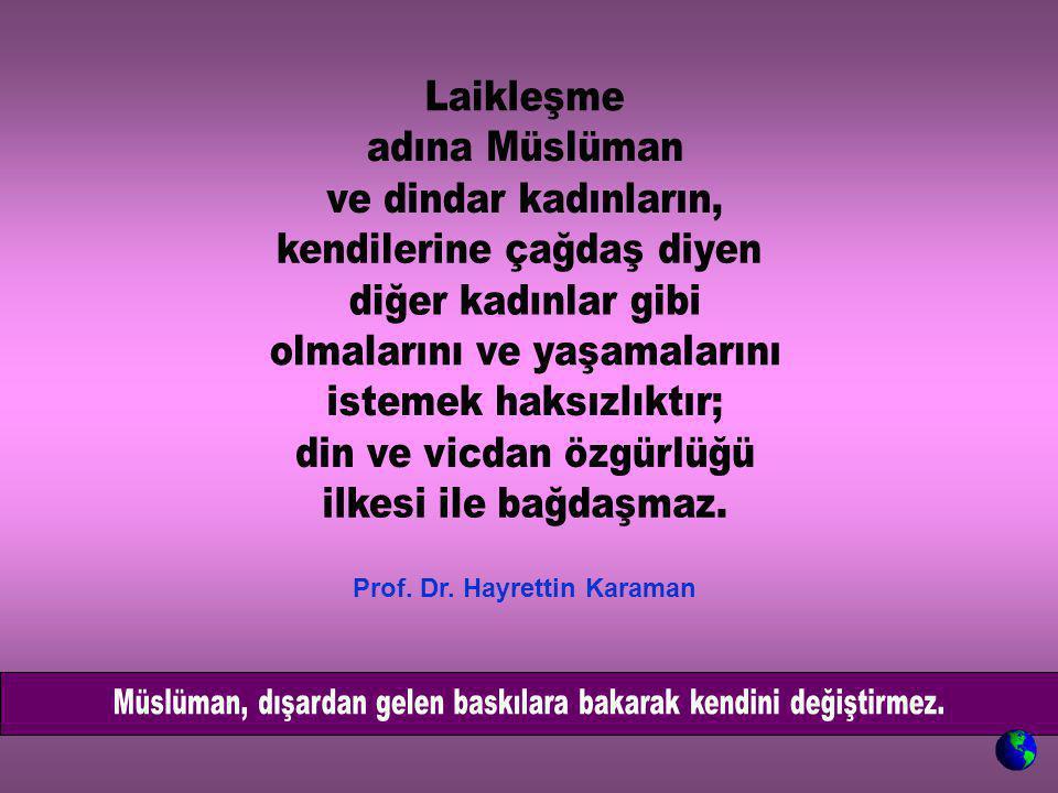 Prof. Dr. Hayrettin Karaman