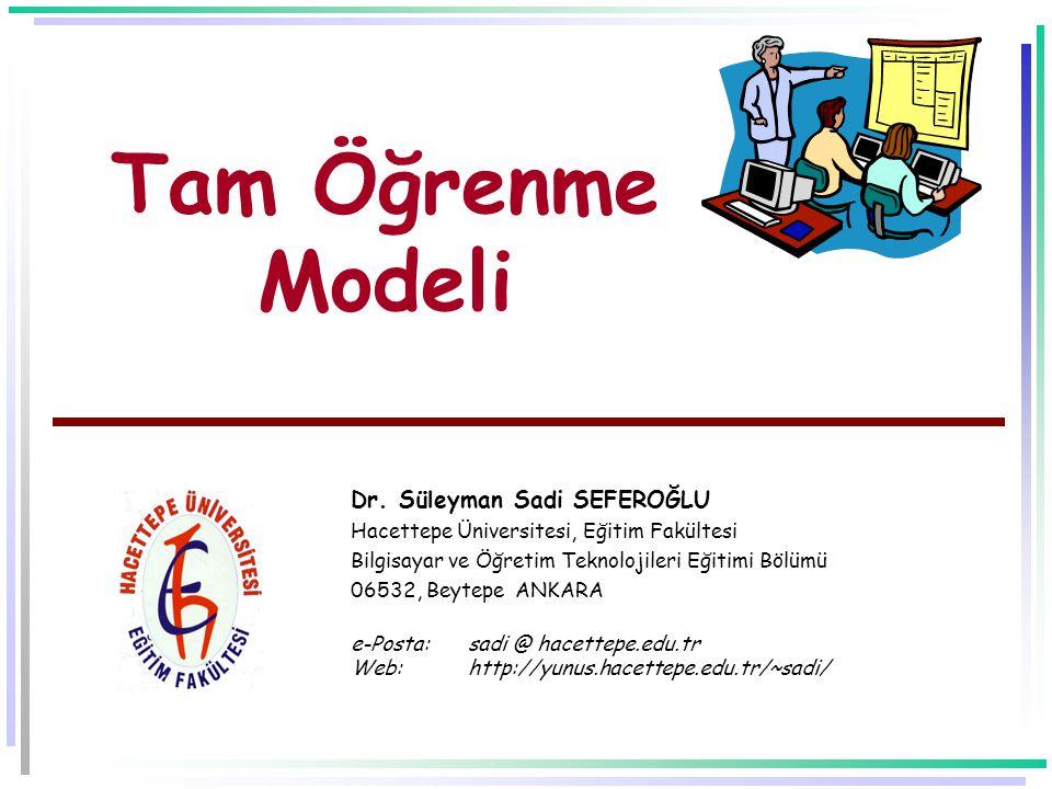 Tam Öğrenme Modeli Dr.