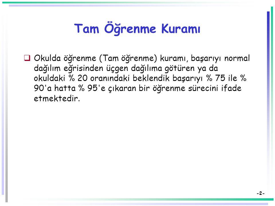 Tam Öğrenme Modeli Dr. Süleyman Sadi SEFEROĞLU Hacettepe Üniversitesi, Eğitim Fakültesi Bilgisayar ve Öğretim Teknolojileri Eğitimi Bölümü 06532, Beyt