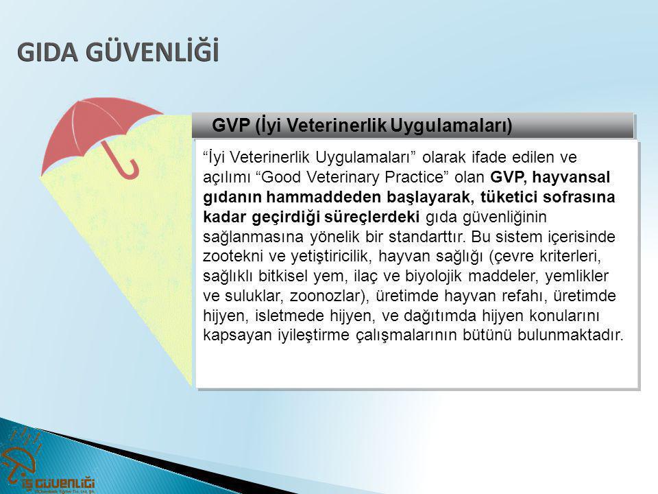 """GVP (İyi Veterinerlik Uygulamaları) """"İyi Veterinerlik Uygulamaları"""" olarak ifade edilen ve açılımı """"Good Veterinary Practice"""" olan GVP, hayvansal gıda"""