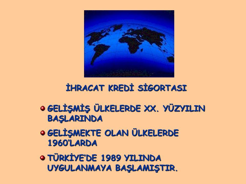 İHRACAT KREDİ SİGORTASI GELİŞMİŞ ÜLKELERDE XX.