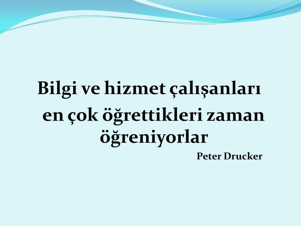 Bilgi ve hizmet çalışanları en çok öğrettikleri zaman öğreniyorlar Peter Drucker