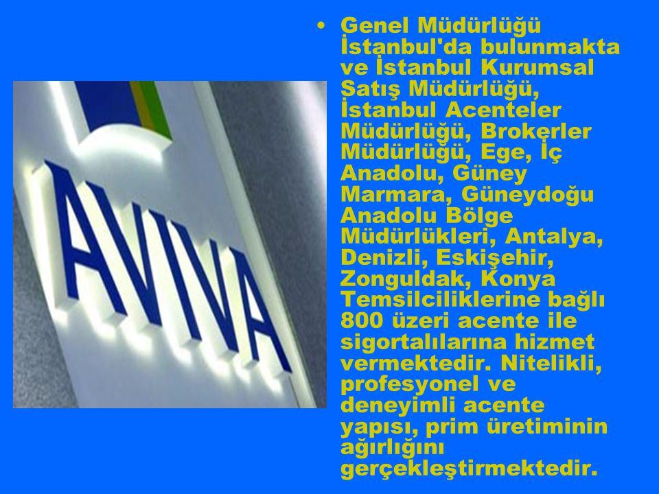 Ayrıca Banka Sigortacılığı Birimi ile, HSBC, Denizbank, Tekstilbank, Albaraka Türk Katılım Bankası, Bank Pozitif ve Anadolubank ın 700 ü aşan şubeleri kanalıyla da müşterilerinin hizmetindedir.
