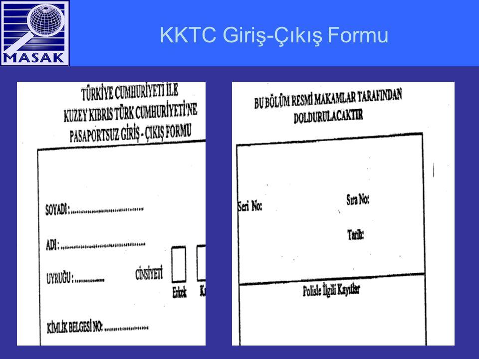 KKTC Giriş-Çıkış Formu