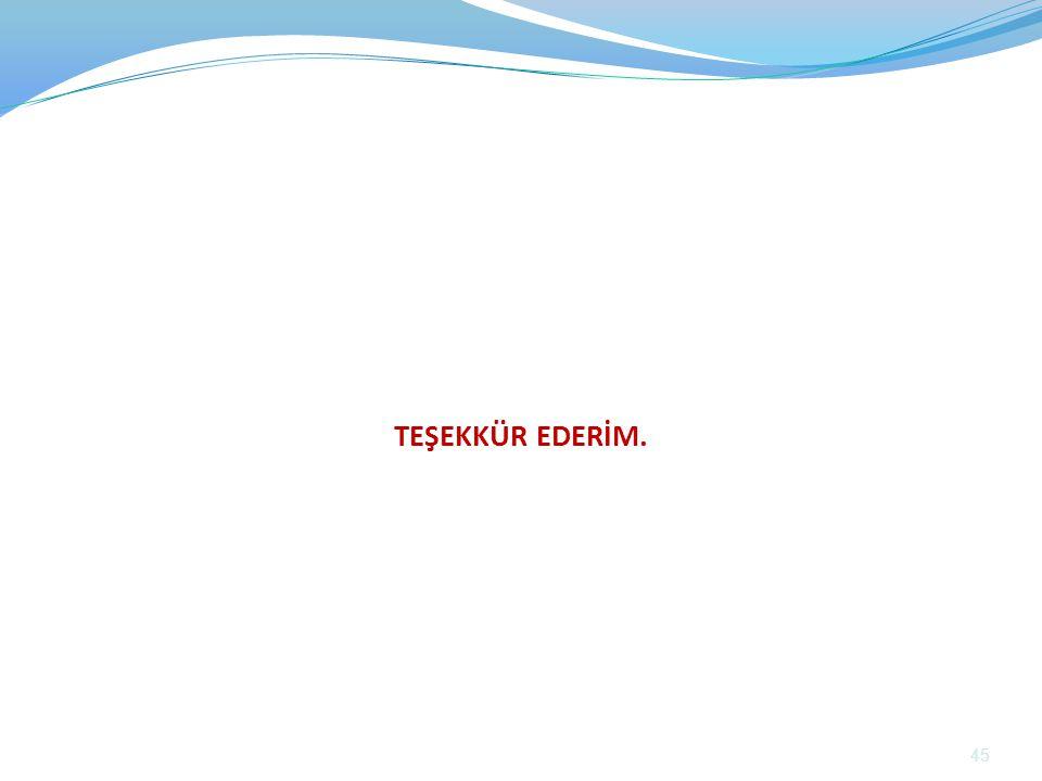 TEŞEKKÜR EDERİM. 45