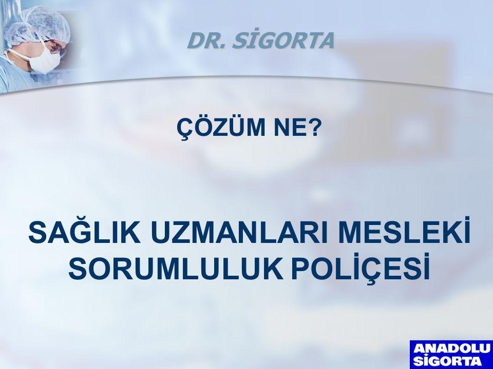 ÇÖZÜM NE? SAĞLIK UZMANLARI MESLEKİ SORUMLULUK POLİÇESİ DR. SİGORTA