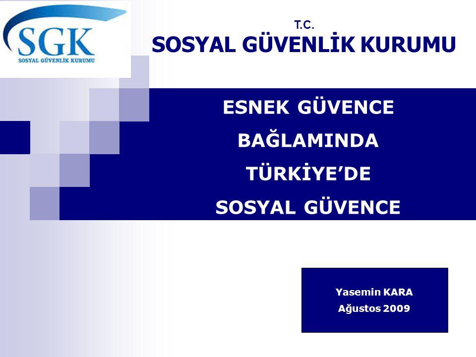 ESNEK GÜVENCE BAĞLAMINDA TÜRKİYE'DE SOSYAL GÜVENCE T.C.