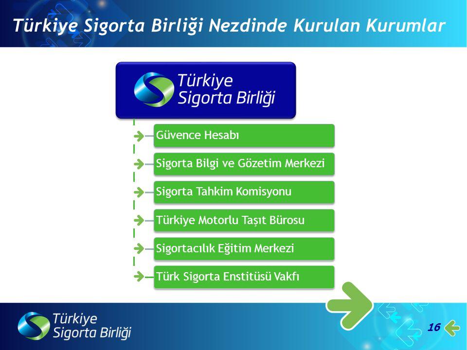 16 Türkiye Sigorta Birliği Nezdinde Kurulan Kurumlar