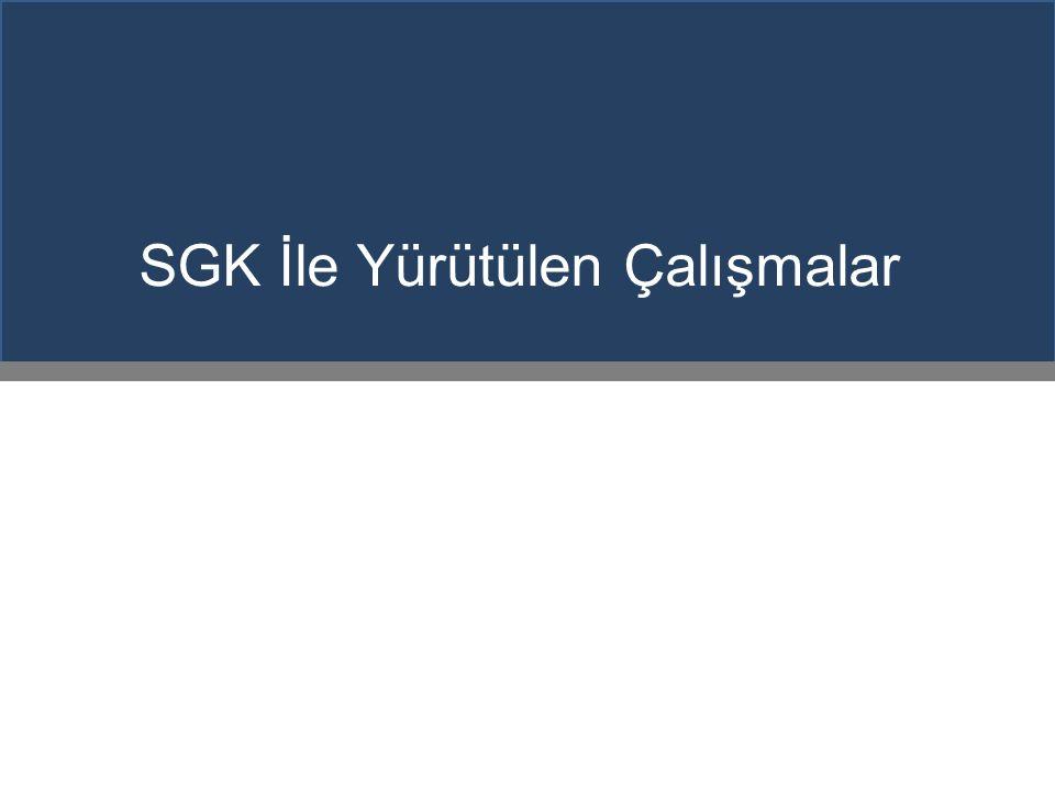 SGK İle Yürütülen Çalışmalar