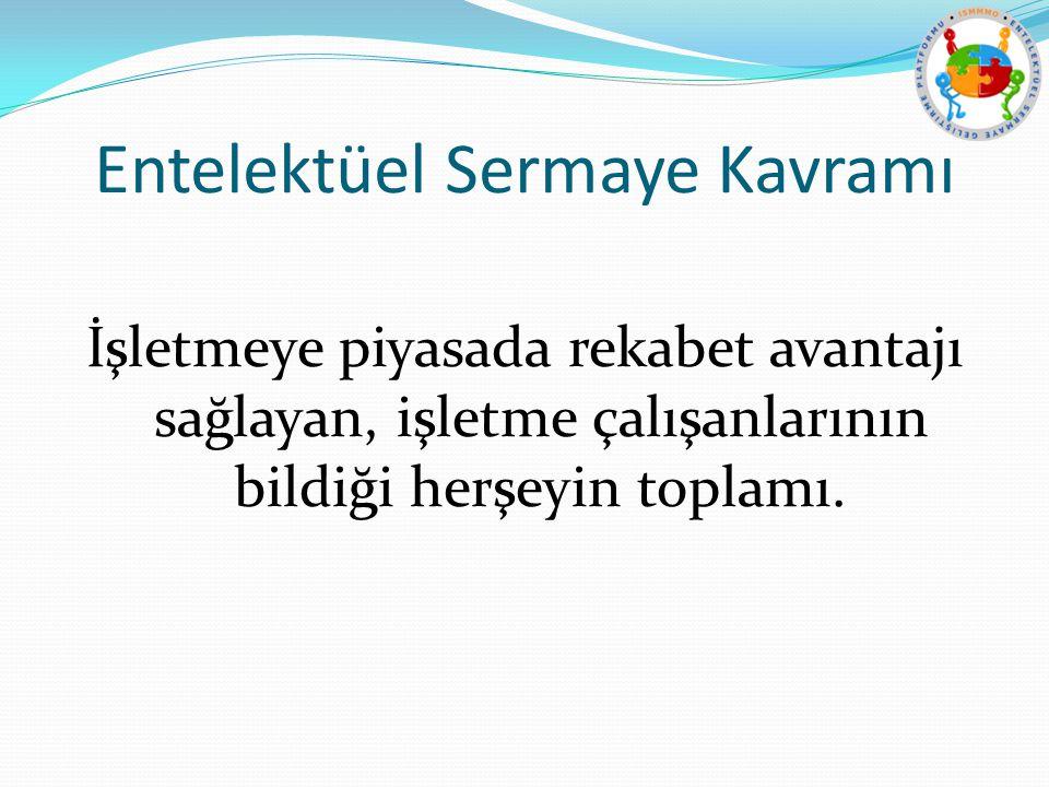 Entelektüel Sermaye Unsurları 1. İnsan Sermayesi 2. Organizasyonel Sermaye 3. İlişkisel Sermaye