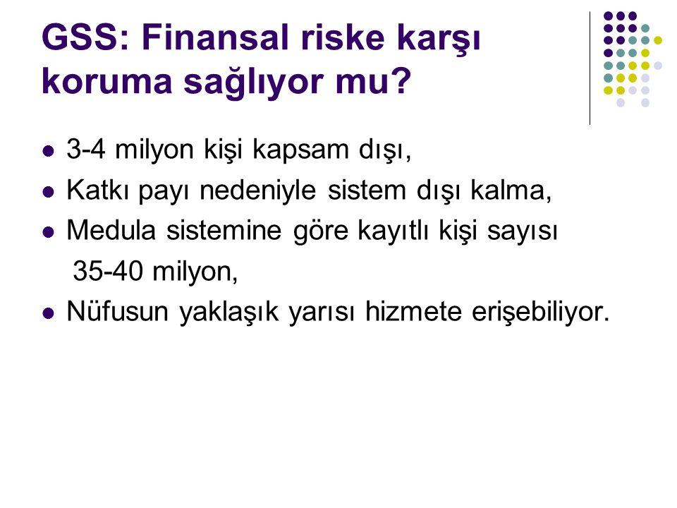 GSS: Finansal riske karşı koruma sağlıyor mu.
