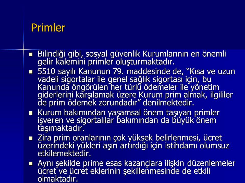 Özürlü çalıştırmada primler  Genelgeye göre, işverenler,  Türkiye İş Kurumu İl/Şube Müdürlüklerinden onaylatacakları ve  Özürlü Statüsünde çalıştırdıkları sigortalıların,  T.C.