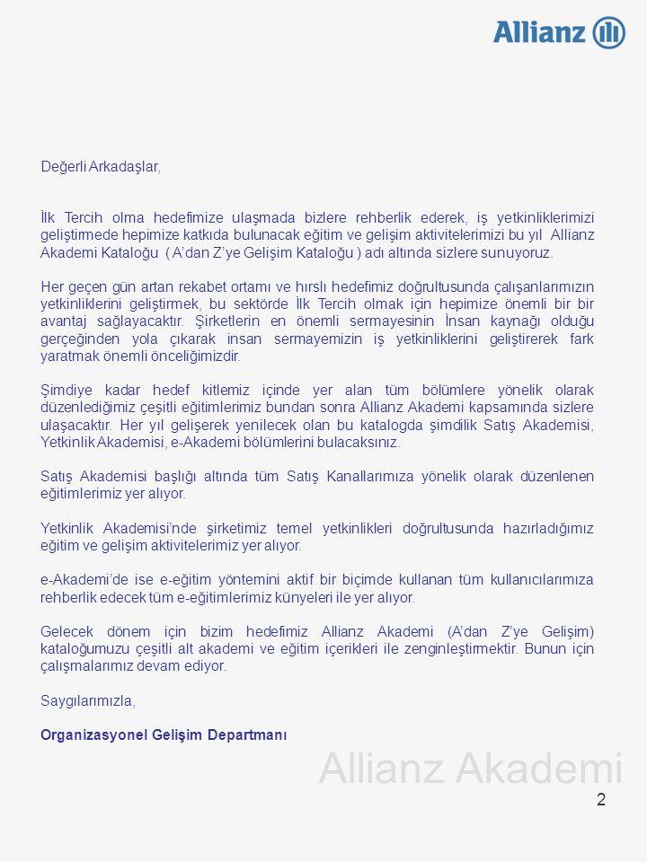 23 Satış Akademisi Magic/Opus/Tramer Magic, Opus, Tramer ve Dask ekranlarının menülerinin ve kullanımına ilişkin bilgilerin aktarıldığı eğitim programıdır.