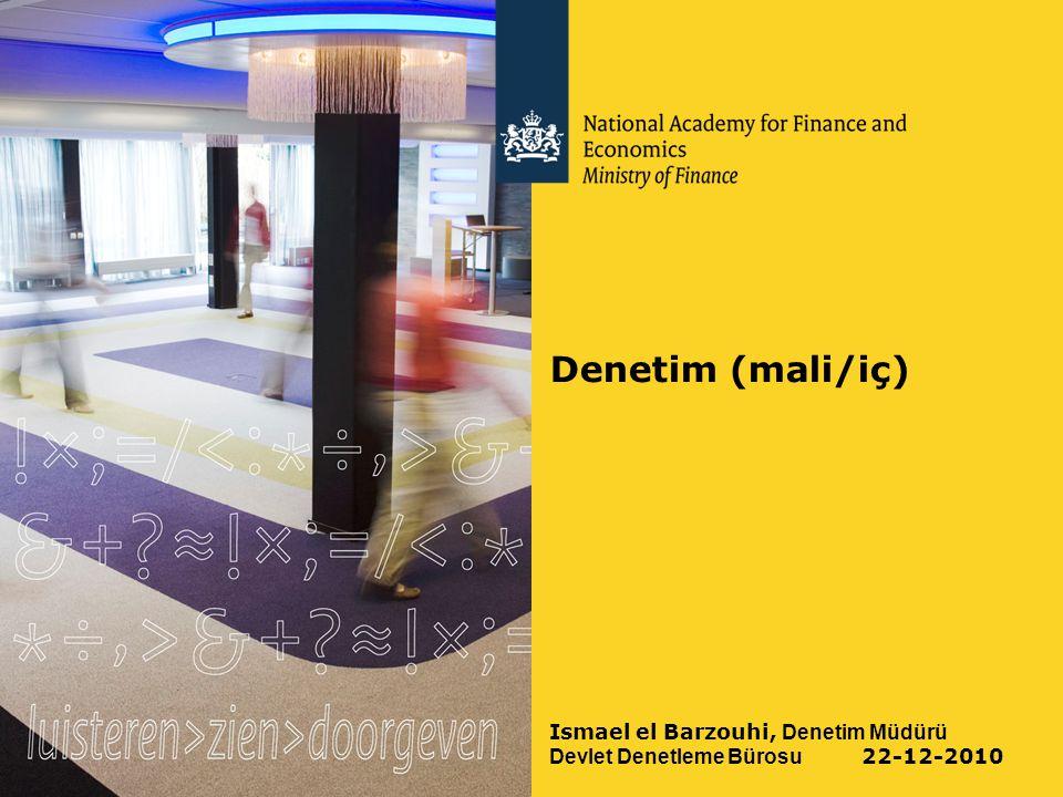 Denetim (mali/iç) Ismael el Barzouhi, Denetim Müdürü Devlet Denetleme Bürosu 22-12-2010