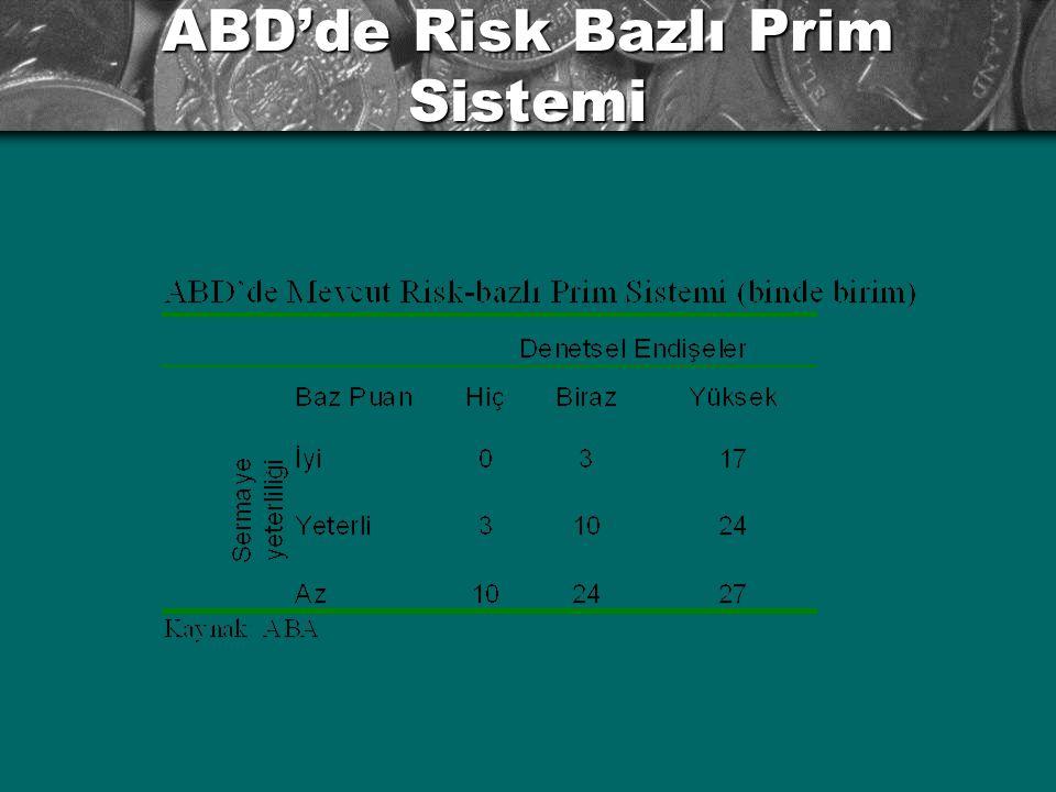 ABD'de Risk Bazlı Prim Sistemi