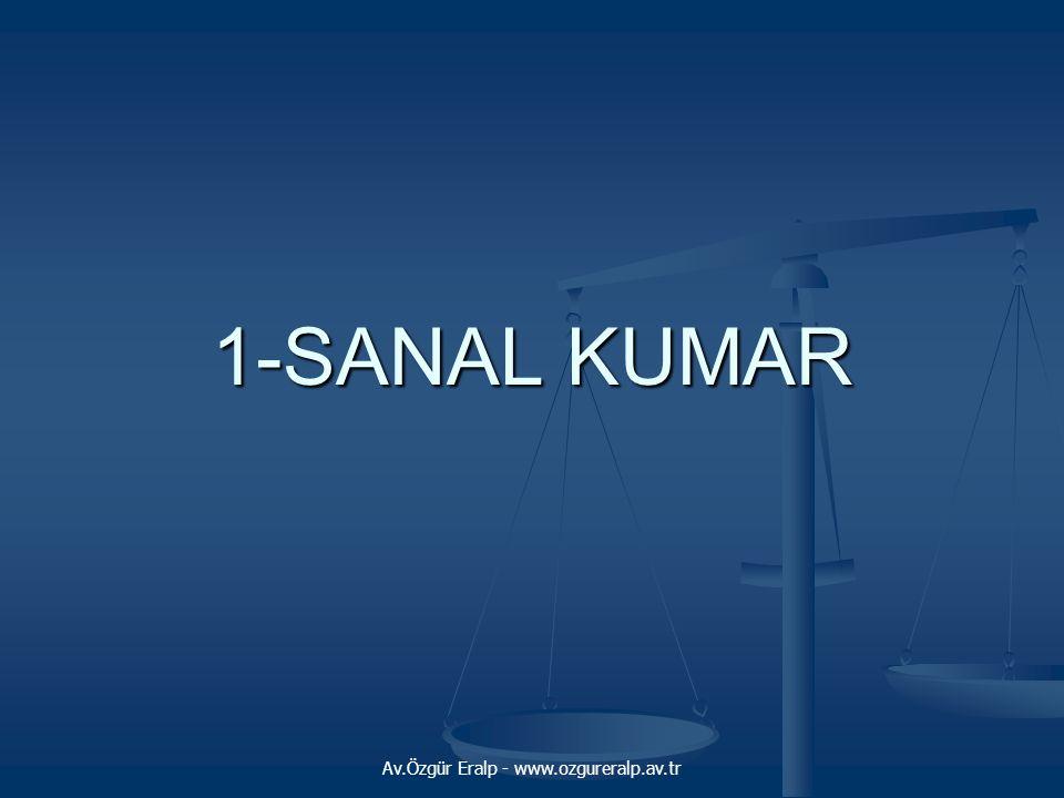 Av.Özgür Eralp - www.ozgureralp.av.tr 1-SANAL KUMAR
