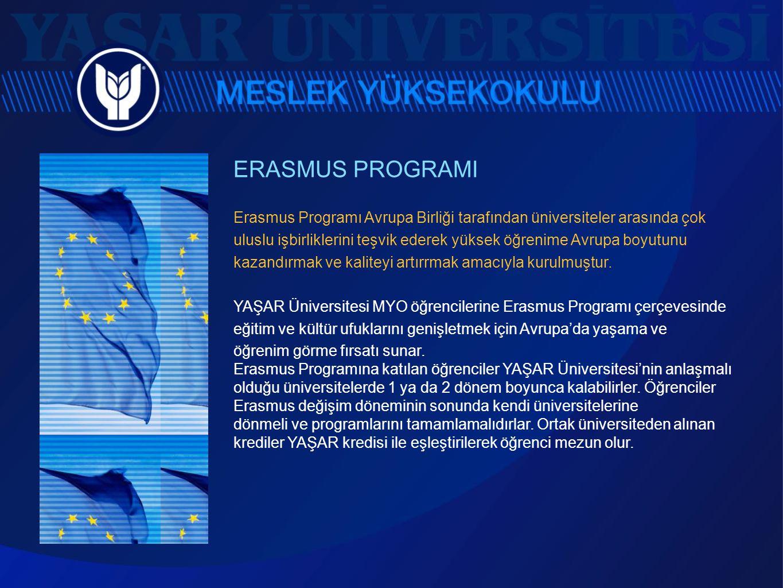 ERASMUS PROGRAMI Erasmus Programı Avrupa Birliği tarafından üniversiteler arasında çok uluslu işbirliklerini teşvik ederek yüksek öğrenime Avrupa boyu
