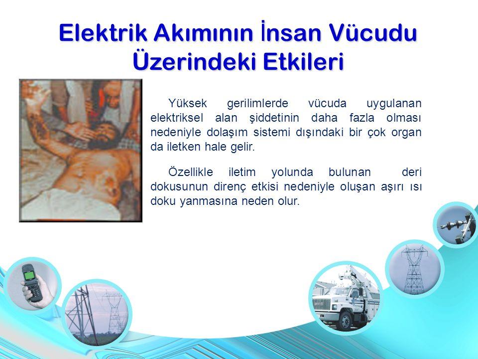 Yüksek gerilimlerde vücuda uygulanan elektriksel alan şiddetinin daha fazla olması nedeniyle dolaşım sistemi dışındaki bir çok organ da iletken hale g