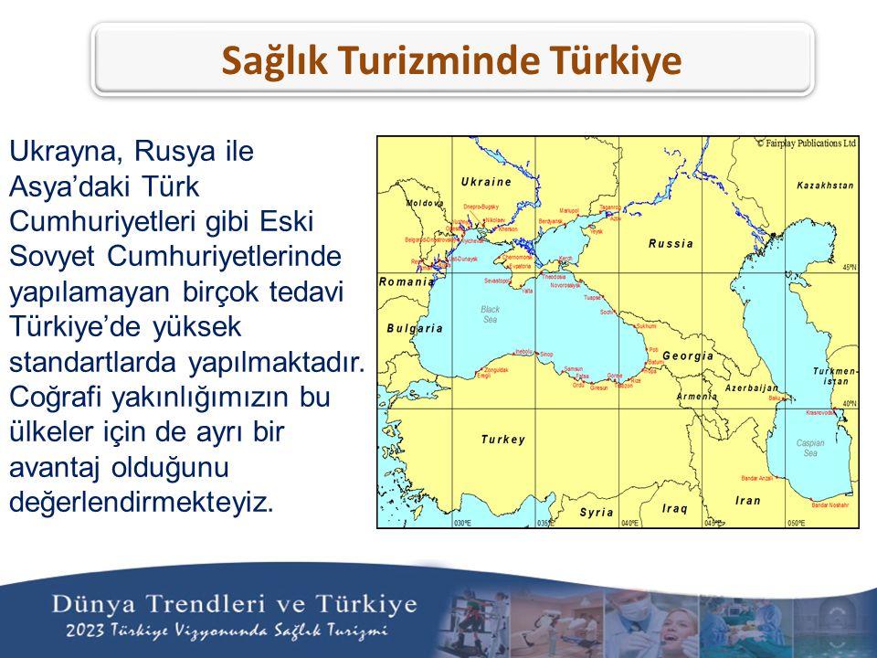 Ukrayna, Rusya ile Asya'daki Türk Cumhuriyetleri gibi Eski Sovyet Cumhuriyetlerinde yapılamayan birçok tedavi Türkiye'de yüksek standartlarda yapılmak