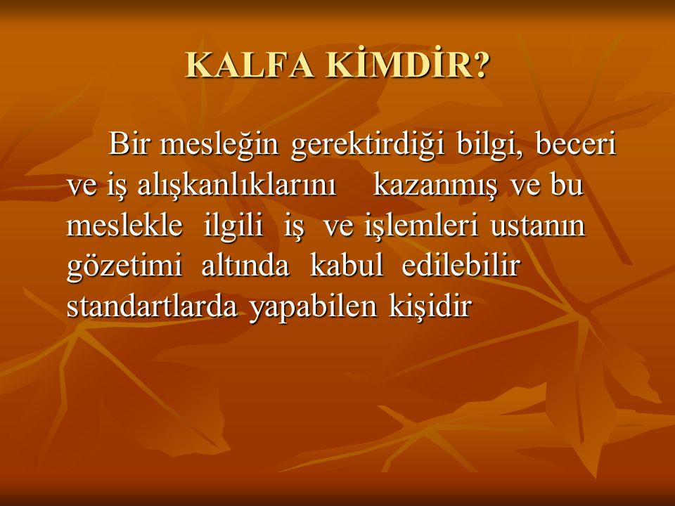 M.E.M.KALFALAR HANGİ DERSLERDEN SINAVA GİRERLER.