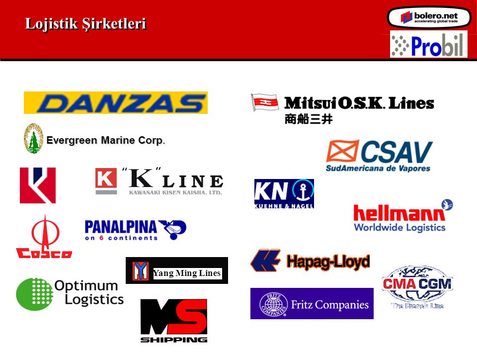Lojistik Şirketleri Evergreen Marine Corp. Yang Ming Lines