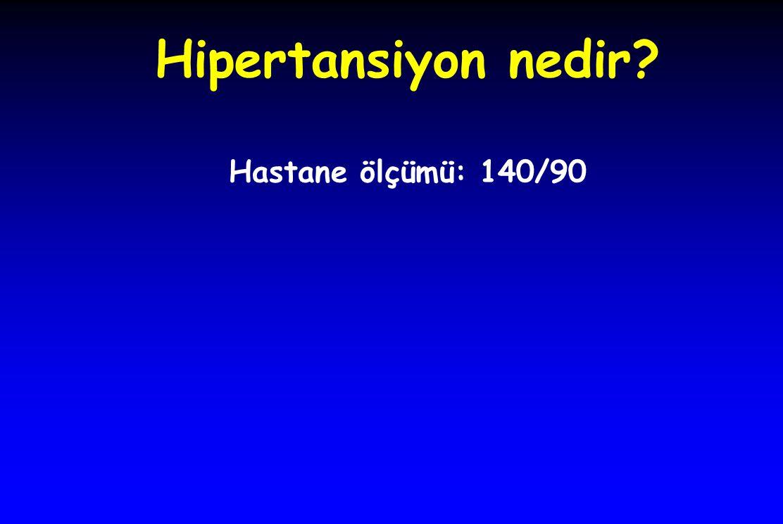 Hipertansiyon nedir? Hastane ölçümü: 140/90
