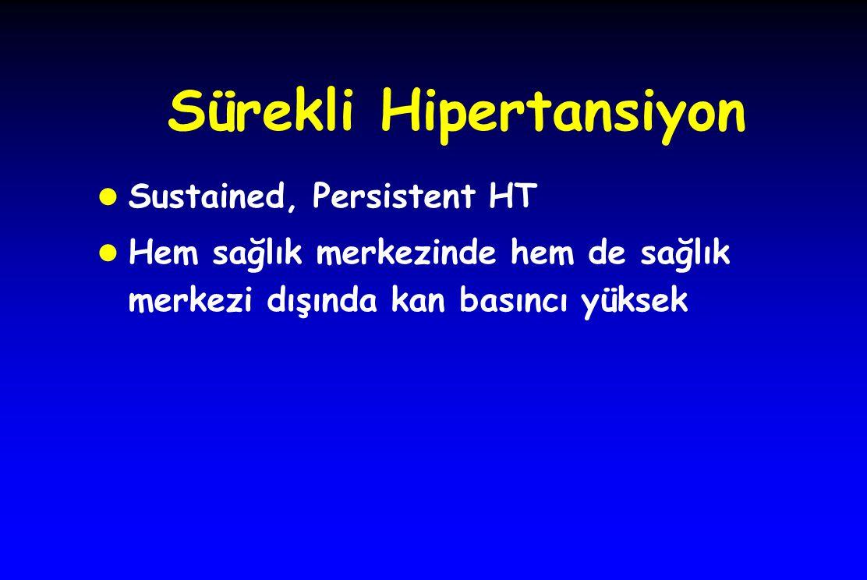 Sürekli Hipertansiyon l Sustained, Persistent HT l Hem sağlık merkezinde hem de sağlık merkezi dışında kan basıncı yüksek