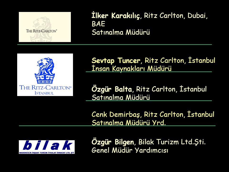İlker Karakılıç, Ritz Carlton, Dubai, BAE Satınalma Müdürü Sevtap Tuncer, Ritz Carlton, İstanbul İnsan Kaynakları Müdürü Özgür Balta, Ritz Carlton, İs