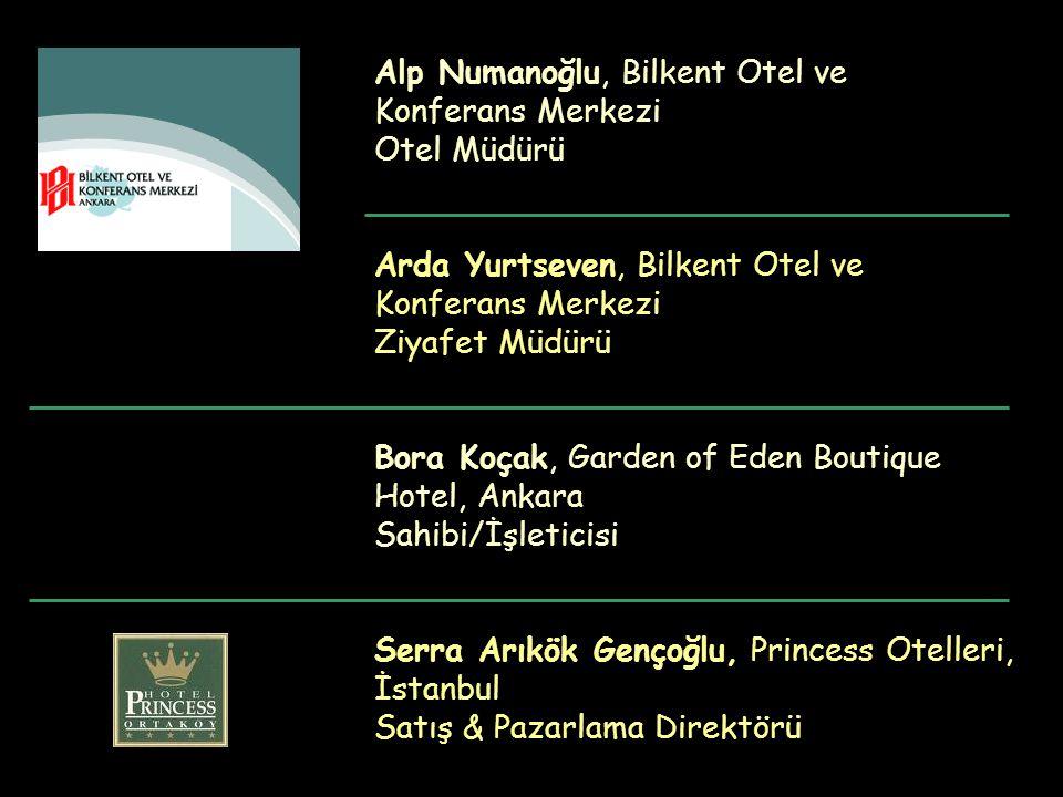 Bora Koçak, Garden of Eden Boutique Hotel, Ankara Sahibi/İşleticisi Alp Numanoğlu, Bilkent Otel ve Konferans Merkezi Otel Müdürü Arda Yurtseven, Bilke