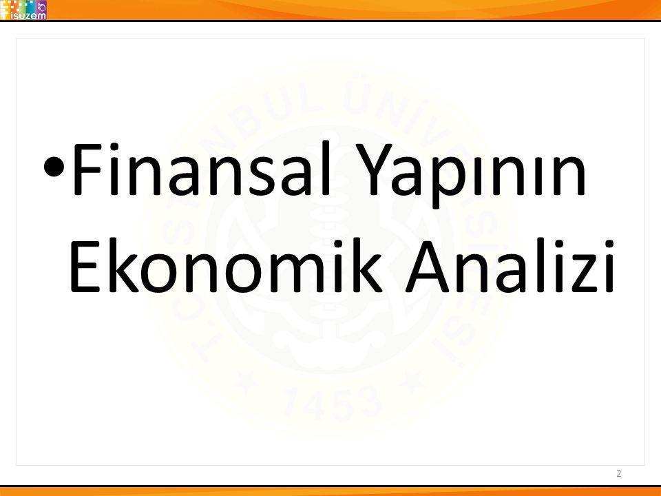 2 • Finansal Yapının Ekonomik Analizi