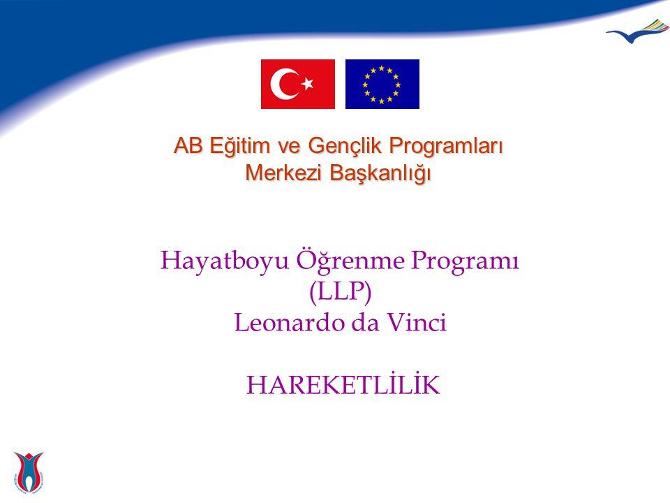 Hayatboyu Öğrenme Programı (LLP) Leonardo da Vinci HAREKETLİLİK AB Eğitim ve Gençlik Programları Merkezi Başkanlığı