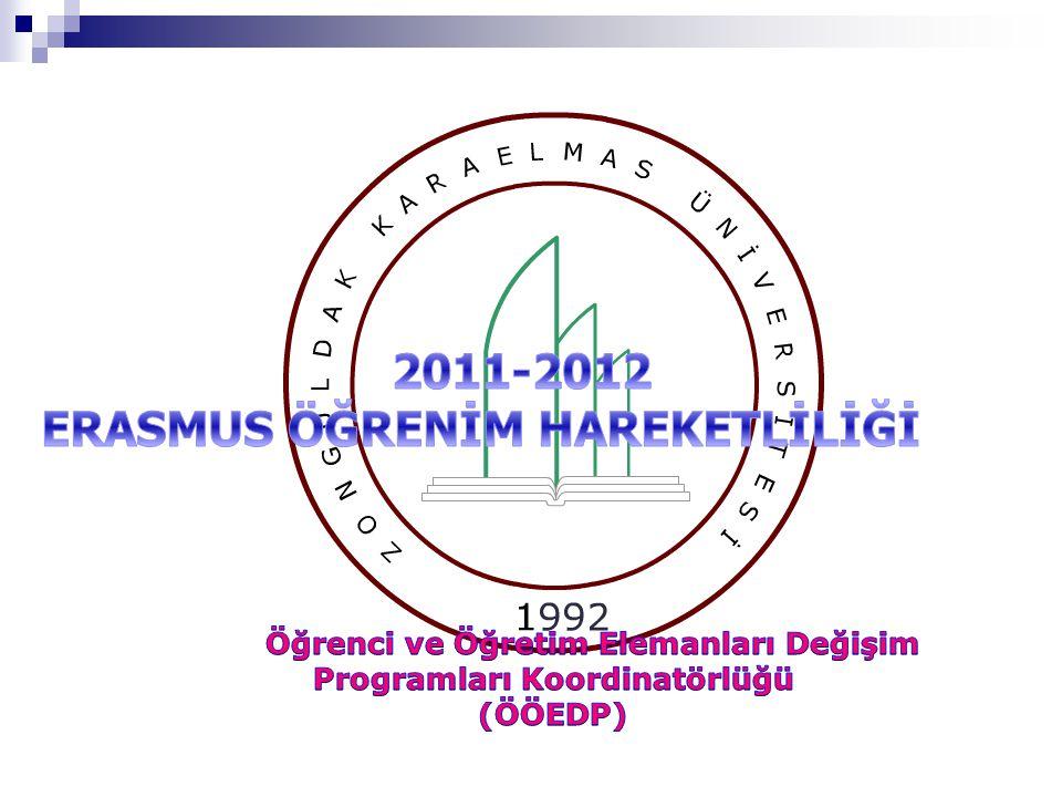  Erasmus öğrencisi değişim sırasında kendi kurumunda tam zamanlı öğrenci (30 ECTS ile yükümlü) olmalıdır.