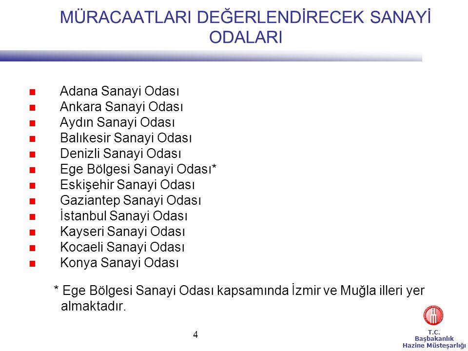 T.C.Başbakanlık Hazine Müsteşarlığı 25 BÖLGESEL TEŞVİK SİSTEMİ İSTİSNALARI(4) 8.