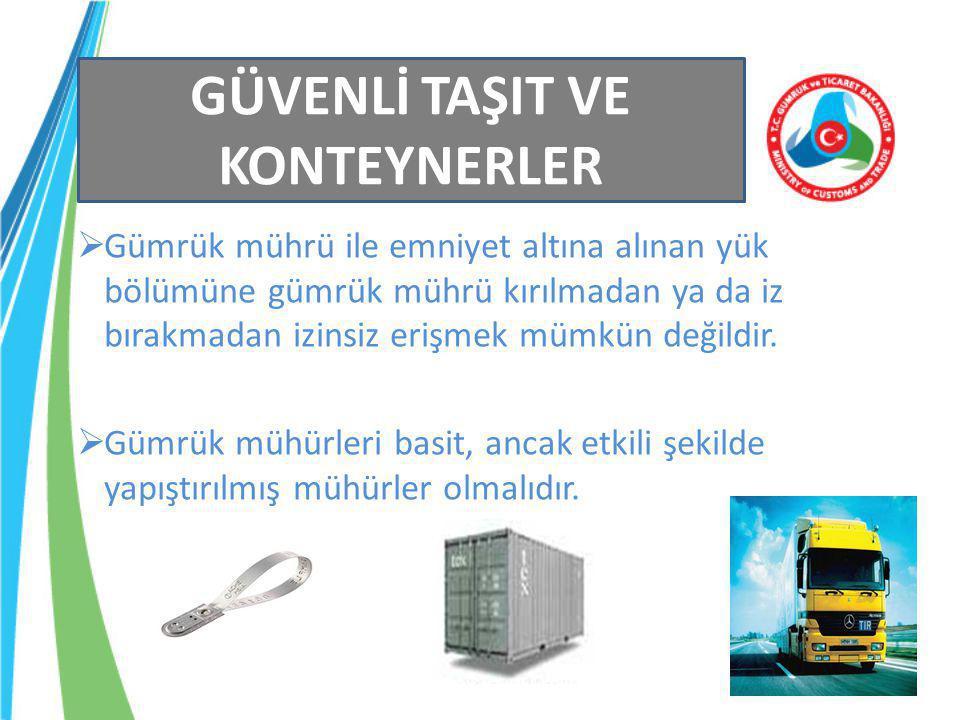 60 Risklerin tespiti ve riskli taşıt, römork, yarı römork ve konteynerlerin kontrolü