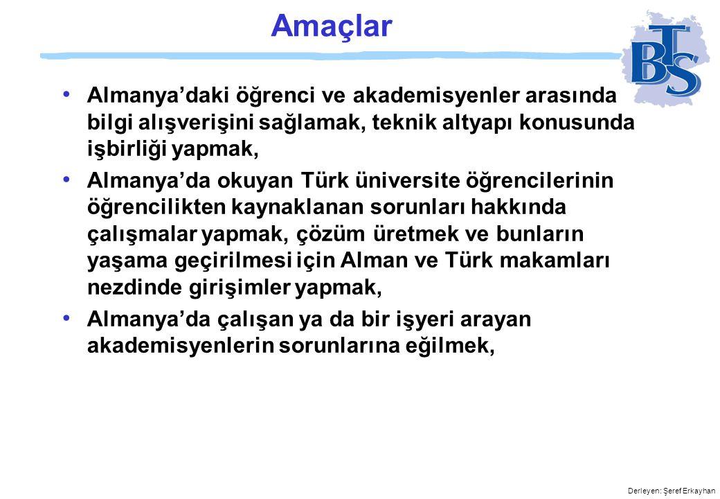 Derleyen: Şeref Erkayhan http://www.btsonline.de info@btsonline.de
